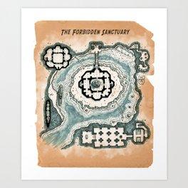 The Forbidden Sanctuary Art Print