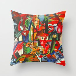 Heinrich Campendonk Bucolic Landscape Throw Pillow