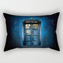 Beautiful tardis with yellow stained glass windows Rectangular Pillow