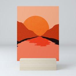 Abstraction_Sunset_Mountains_001 Mini Art Print