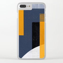 Abstract Geometric Space 1 Clear iPhone Case