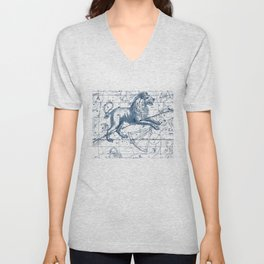 Leo sky star map Unisex V-Neck