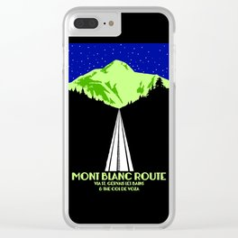 Mont Blanc Alps railway route Clear iPhone Case