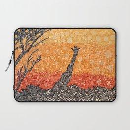 Giraffe In The Bush Laptop Sleeve