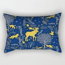 Blue Forest Rectangular Pillow