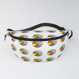 multicolor polka dot 5 -polka dot,pattern,dot,polka,circle,disc,point,abstract,minimalism Fanny Pack