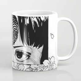 Junji Ito with cherry blossoms Coffee Mug