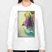 trumpet Long Sleeve T-shirts featuring Trumpet Flowers by AlyZen Moonshadow
