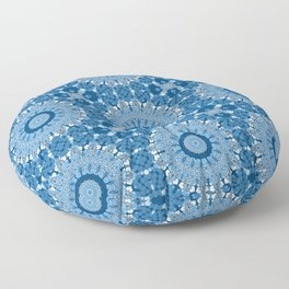 White blue kaleidoscope . Floor Pillow