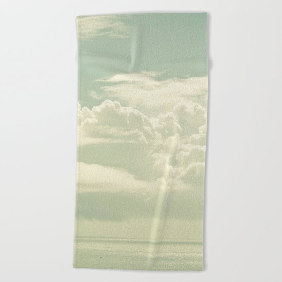 As the Clouds Gathered Beach Towel