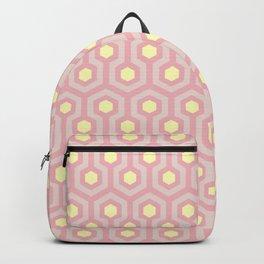 Peony, blush, and buttercup yellow geometric pattern Backpack