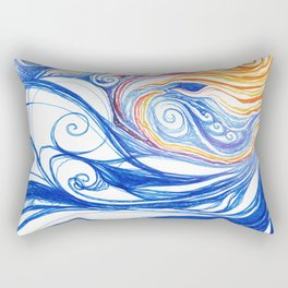 Winter Storm Rectangular Pillow