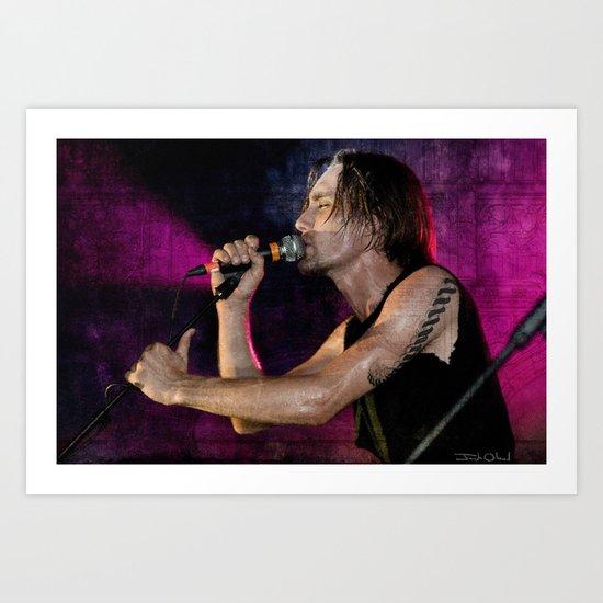 Swindy - Rock And Roll Vocalist Art Print