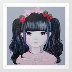 Nakayoshi Strawberry Art Print