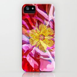 Abstract Flower iPhone Case