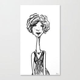 Klara in black & white Canvas Print