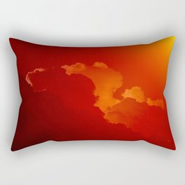 Beauty in the Sky- Photo of clouds in a sunset Rectangular Pillow