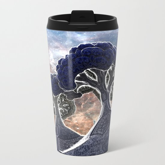 Broccoli Planet in Winter Metal Travel Mug