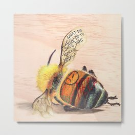 TAGGED(in color): Honey Bee Metal Print
