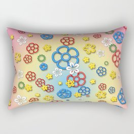 Digital springtime Rectangular Pillow