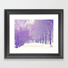 Can't see the forest for its trees Framed Art Print