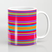 blanket Mugs featuring Guatemalan Blanket by StudioBlueRoom