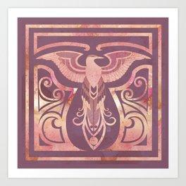 Golden Phoenix Art Print