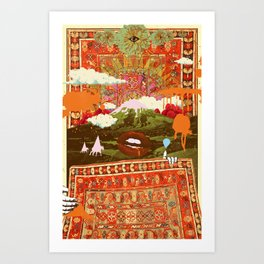 MORNING PSYCHEDELIA Art Print