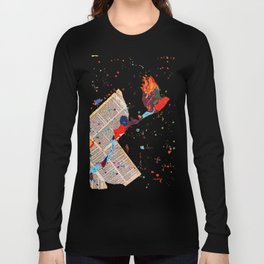 Letter Trail by Nadia J Art Long Sleeve T-shirt