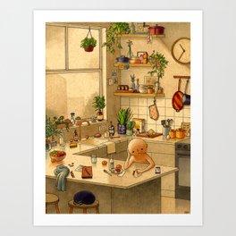 Kitchen Counter Art Print