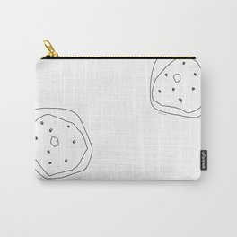 Words from Doughnuts - donut illustration humor quote Carry-All Pouch