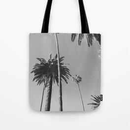 Palm Trees (Black and White) Tote Bag