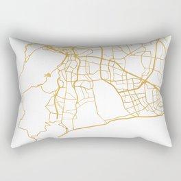 CAPE TOWN SOUTH AFRICA CITY STREET MAP ART Rectangular Pillow