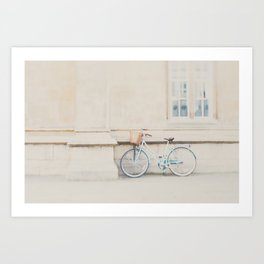 a mint green bicycle is the perfect way to travel around Cambridge Art Print