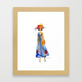 LIVE COLORFULLY Framed Art Print