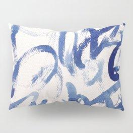 Kyu, japanese calligraphy inspired aquarell painting Pillow Sham
