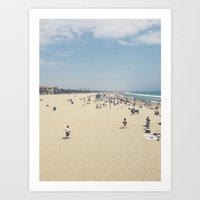 santa monica Art Prints featuring santa monica by Shelby Boschetto