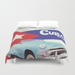 Cuba by Air Duvet Cover