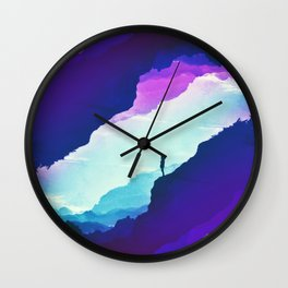 Violet dream of Isolation Wall Clock