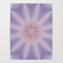 Pink and Lilac 3D Flower Three Poster