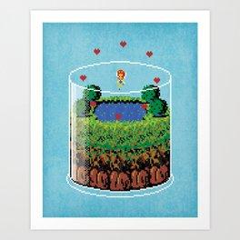 Hyrule Terrarium Art Print
