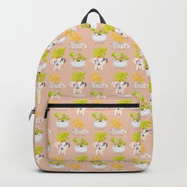 Kawaii dog cat hedgehog succulents Backpack