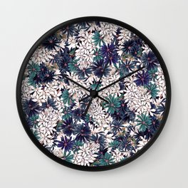 Floral Ditsy Pattern Wall Clock
