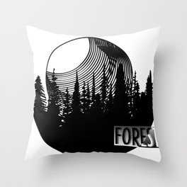 Forest Here Throw Pillow