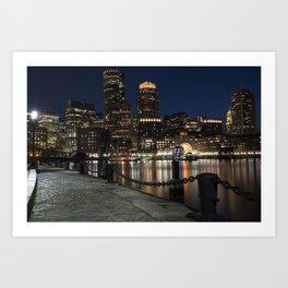 Boston Waterfront Boston Skyline Boston MA Art Print