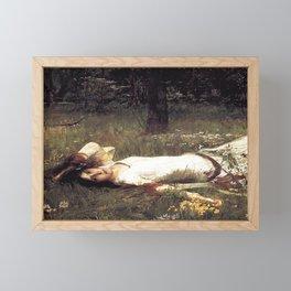 OPHELIA - JOHN WILLIAM WATERHOUSE Framed Mini Art Print