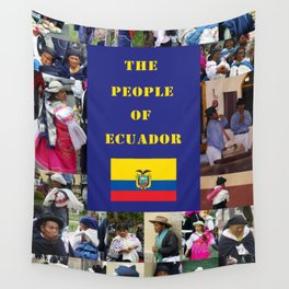 The People of Ecuador, Collage Wall Tapestry