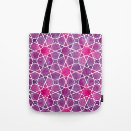 Watercolor - Islamic Geometry Tote Bag
