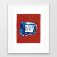 radio Framed Art Prints featuring Radio! by Cai Sepulis
