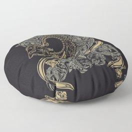 wayangan wayang mural etnic design Floor Pillow
